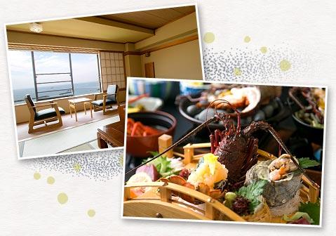 全室オーシャンビューの絶景と漁師町相差の新鮮な海鮮料理